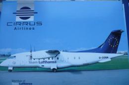 AIRLINE ISSUE / CARTE COMPAGNIE   CIRRUS AIRLINES   DORNIER 328 - 1946-....: Moderne