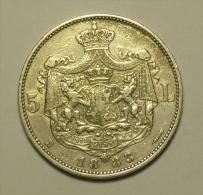 Roumanie Romania Rumänien 5 Lei 1883 Argent / SIlver  # 8 - Romania