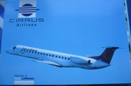 AIRLINE ISSUE / CARTE COMPAGNIE   CIRRUS AIRLINES  EMBRAER ERJ 145 - 1946-....: Moderne
