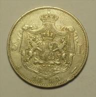 Roumanie Romania Rumänien 5 Lei 1883 Argent Silver   HIGH   GRADE !!!  # 3 - Rumania