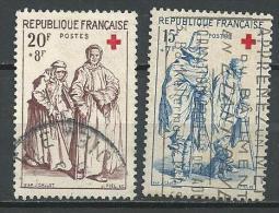 """FR YT 1140 & 1141 """" Croix-Rouge, Gravures """" 1957 Oblitéré - Usati"""