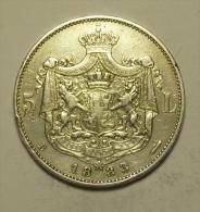 Roumanie Romania Rumänien 5 Lei 1883 Argent / SIlver  # 6 - Rumania