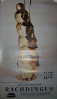 DALI. ESPAGNE. AFFICHE ORIGINALE DE MIETTE : XXV ANNIVERSAIRE DE LA DISCOTHÈQUE LE RACHDINGUE A VILAJUIGA - Affiches