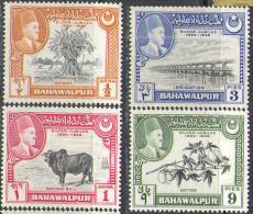 M1074 Fauna Flora Defins 1949 Protectorat Bahawalpur 4v Set MNH ** 5,2ME - Gran Bretaña (antiguas Colonias Y Protectorados)
