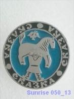 Cartoon Film Soviet: Russia Bogatyr - Hercules (children´s Ethnic Story ) / Old Soviet Badge USSR 250_u3288 - Disney