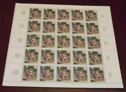 N°1376 - Delacroix En Feuille Complète De 25 - Neuf Luxe ** - MNH - Cote 100 EUR - Feuilles Complètes