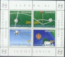 YU 1982-1921-4 ESPAGNA FIFA CUP, YUGOSLAVIA, S/S , MNH - Blocks & Kleinbögen