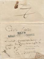 482/21 - Lettre Précurseur En Port Payé P86P BRAISNE LE COMTE An 9/ 1800 - Herlant Indice 30 - 1794-1814 (French Period)