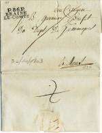 483/21 - Lettre Précurseur En Port Payé P86P BRAINE LE COMTE 1803 Vers MONS - Superbe Qualité - Herlant Indice 29 - 1794-1814 (French Period)