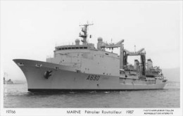 Pétrolier MARNE (Marine Nationale) - Carte Photo éd. Marius Bar Réf. 21890 - Bateau/ship/schiff - Warships