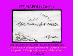Casoli-00177 - Piego (con Interessante Contenuto Postale) Del 29 Aprile 1817 - Italia
