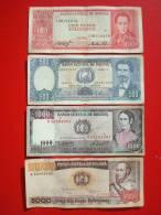BOLIVIA 4 BANK NOTES 100 / 500 / 1000 / 5000 PESOS / Circulated - Bolivie