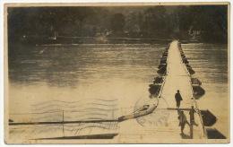 Real Photo Boat Bridge  P. Used Ipoh To Cuba 1926 Text Steel Bridge Is Under Construction - Malasia