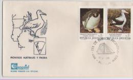 ARGENTINA   FDC  Birds /   ARGENTINE Lettre De 1er Jour  Oiseaux  1983 - Albatrosse & Sturmvögel
