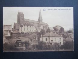 CP BELGIQUE (M49) LOBBES (2 Vues) Eglise De LOBBES, Vue Du Chemin De Fer - Lobbes
