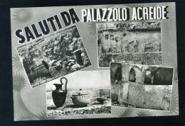 T1216 CARTOLINA ILLUSTRATA SIRACUSA SALUTI DA PALAZZOLO ACREIDE VEDUTINE FG. V. - Siracusa