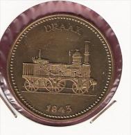 PENNING 150 JAAR SPOORWEGEN TREIN DRAAK 1843 20,2gr. 42 Mm - Professionnels/De Société