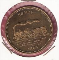 PENNING 150 JAAR SPOORWEGEN TREIN SS No.1 1863 20,2gr. 42 Mm - Professionnels/De Société