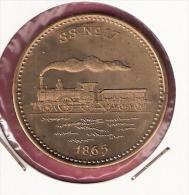 PENNING 150 JAAR SPOORWEGEN TREIN SS No.17 1865 20,2gr. 42 Mm - Professionnels/De Société