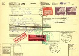 Express Paket Begleitadresse  Sierre - Stuttgart Feuerbach D         1973 - Brieven En Documenten
