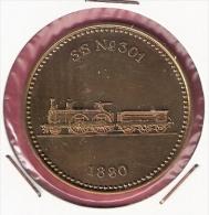 PENNING 150 JAAR SPOORWEGEN TREIN SS No.301 1880 20,2gr. 42 Mm - Professionnels/De Société