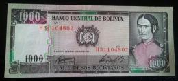 1000 Pesos 1982 UNC - Bolivia