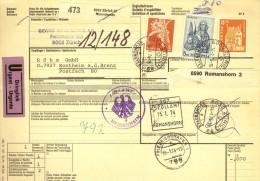 Dringlich Paket Begleitadresse  Zürich - Sontheim A.d.Brenz D         1974 - Brieven En Documenten