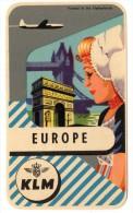 Joli Lot De 2 Etiquettes De KLM, Originales Des Années 60- Ou 70 (?) - Publicidad