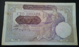 100 Dinari 1941 VF - Yougoslavie