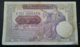 100 Dinari 1941 VF - Yugoslavia