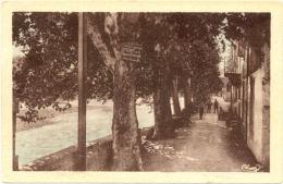 30/CPA A  - Quissac - Promenade Du Tivoli, Sur Les Bords Du Vidourle - Quissac