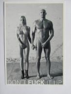 SANTE PREVENTION SIDA DON'T FUCK IT UP COUPLE HOMME FEMME NUS SEXY EDITGO-CARD 10885 SEX& SUNDHED - Santé