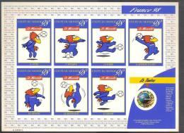France, 3140a, Adhésif 17a, 3140, Feuillet Avec 7 Vignettes, Non Plié, TTB, - 1998 – Frankrijk