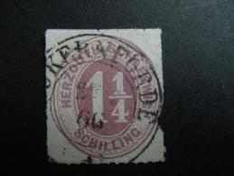 Schleweg  1865 Michel 14 (imperfect Rechts!) - Schleswig-Holstein
