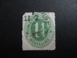 Schleweg  1865 Michel 9 (imperfect Boven!) - Schleswig-Holstein