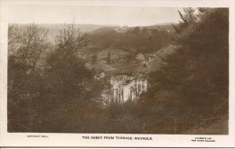YORKS - RIEVAULX - THE ABBEY FROM TERRACE (with Scaffolding)  RP   Y1853 - England