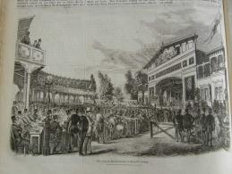 Leipzig - Die Leipziger Sommertheater In Gerhard's Garten  - Wood Engraving From 1853 ILZ1853.396 - Documenti Storici