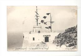 CPA Algérie TENES Le Sémaphore Du Cap Ténés De 1921 - Algérie