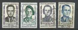 """FR YT 1157 à 1160 """" Héros De La Résistance """" 1958 Oblitéré - Usati"""
