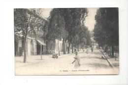 CPA Algérie TENES Avenue D´Orléanaville Ténés De 1921 - Algérie