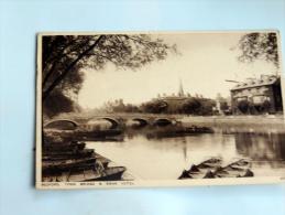Carte Postale Ancienne : BEDFORD , Town Bridge & Swan Hotel , Stamp 1929 - Bedford