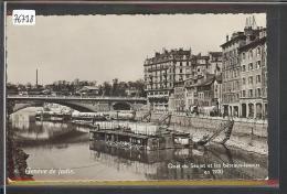 GENEVE DE JADIS - QUAI DU SEUJET ET LES BATEAUX LAVOIRS EN 1900 - TB - GE Ginevra