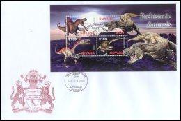 Guyana 2005 Sheet/4 Prehistoric Dinosaurs #3895 FDC -Spinosaurus - Guyana (1966-...)