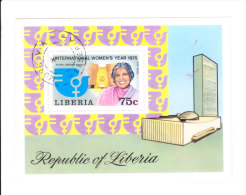 Liberia Miniature Sheeet  1975 - Vijay Laxmi Pandit - International Womens's Year 1975 - Liberia