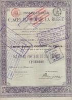 LOT DE 8 X COMPAGNIEIE DES GLACES DU MIDI DE LA RUSSIE 1899 - Russia