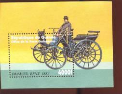MINT NEVER HINGED SOUVENIR SHEET OF CARS  # 297-3 ( GUENEE   2102   DAIMLER - Auto's