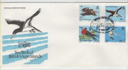 BRITISH VIRGIN ISLANDS  FDC  Seabirds /   îles Vierges Britanniques  Lettre De 1er Jour  Oiseaux De Mer   1980 - Vögel