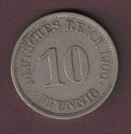 DEUTSCHES REICH 10 PFENNIG 1900 A - [ 2] 1871-1918 : German Empire