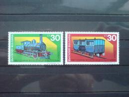 BULGARIA 1991 TRANSPORT Vehicles TRAINS - Fine Set MNH - Unused Stamps