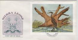 SIERRA LEONE   FDC Bird Bloc  /   Lettre De 1er Jour  Oiseau   1988 - Oiseaux